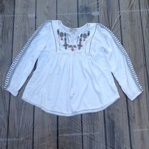 Vintage America, Boho Style Long Sleeve Tunic